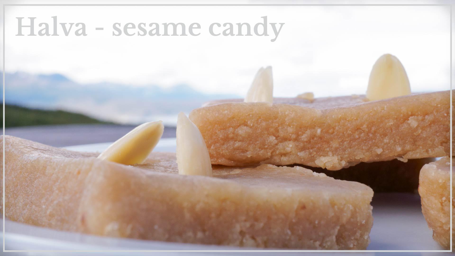Halva - sesame and honey bar candy